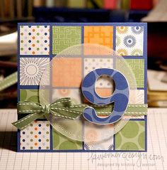Love use of squares, vellum and ribbon. Great for scraps