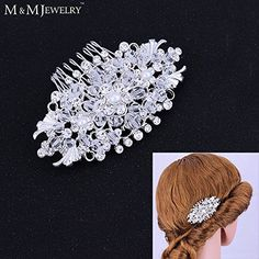 Fashion Handmade Cystal Beads Simulated Pearl Combs Bridal Tiara Wedding Accessories -- You can find more details by visiting the image link. #hairandmakeup