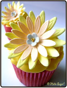 Vanilla & White Chocolate Cupcakes with Passion Fruit Frosting by åsa - hello sugar!, via Flickr