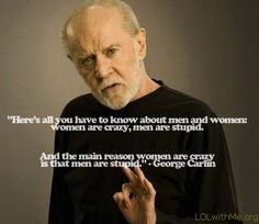 Oh George,... You're so right.