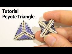 How to make a Peyote Triangle #Seed #Bead #Tutorials
