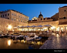 dubrovnik-old town by night. Beautiful (but slippy floors)