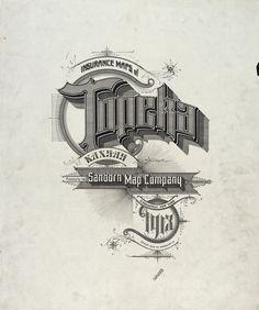 Sanborn Insurance map - Kansas - TOPEKA - 1913  typography  lettering 100%  5600 6f049a7e7