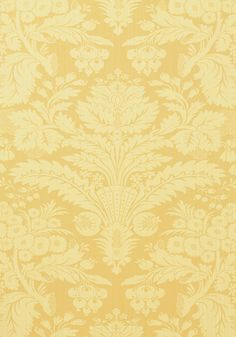 TADDINGTON, Yellow, T7613, Collection Damask Resource 3 from Thibaut