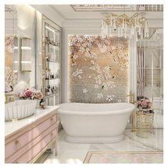 Jó reggelt kívánok a rózsaszín jegyében ezzel a gyönyörű tervvel.  Designed by @magdalena.ancu pink perfection  #sicis #everythingismosaic #mindenmozaik #pink #madeinitaly  #romania #bathroom #bathroomdesign #sicistone Bathtub, Bathroom Ideas, Pink, Instagram, Standing Bath, Bathtubs, Bath Tube, Pink Hair, Roses