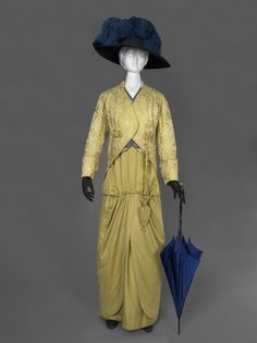 Woman's Day Ensemble: Dress and Jacket, by Rondeau Legrand & Cie, circa 1913, at the Philadelphia Museum of Art.
