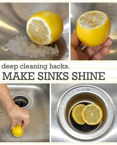 hacks and tips for deep cleaning I like the sink, permanent marker and Lego ideas.