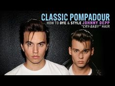 Pompadour | Mens Hair | Johnny Depp Cry Baby Hairstyle - Haircut - YouTube