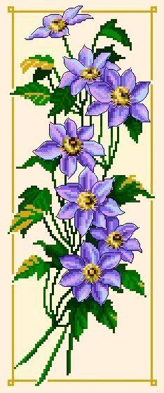 Violets - Cross Stitch Chart - Click Image to Close
