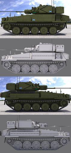 "3D model ""CVR(T) FV107 Scimitar (Green)"" #3Dmodel #3Dartist #Tank #Collection #3Dsmax #Vray #Frigatez"