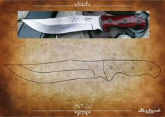 Survival camping tips Knife Shapes, Knife Drawing, Knife Template, Knife Patterns, Knife Art, Damascus Steel, Knives And Swords, Survival Knife, Metal Working