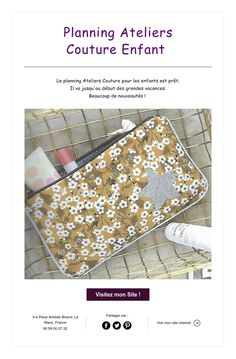 Planning Ateliers   CoutureEnfant