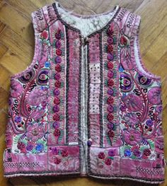 Transylvanian sheepski embroidered vest