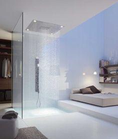 Tutustu omalaatuiseen, uudenaikaiseen kylpyhuoneen ja oleskelutilan yhdistelmään. Klikkaa kuvaa, niin näet sisustustuotteiden tiedot ja ostopaikat!
