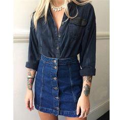 Alta calidad de dicha cantidad estilo del verano de mezclilla faldas 2016 mujeres Jean minifalda de cintura alta paquete Retro de la cadera falda lápiz corto para mujeres(China (Mainland))