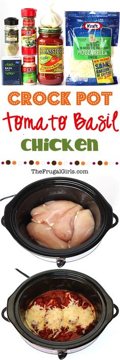 Crock Pot Tomato Basil Chicken Recipe