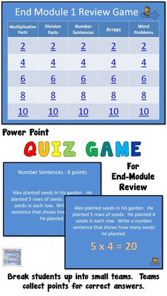 3rd Grade Review Games for Engage NY's 3rd Grade Math Modules
