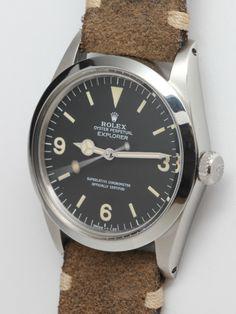 Rolex Stainless Steel Explorer 1 Wristwatch Ref 1016 circa 1984 image 2