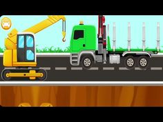Learning Crane Builder Puzzles | Nursery Rhymes for Kids - YouTube