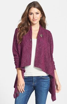 Bobeau Two-Pocket Fleece Cardigan Taupe - Zappos.com Free Shipping ...