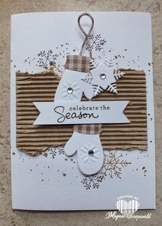 LOVE the corrugated cardboard! Magical Scrapworld: celebrate the season (12/3/2014)