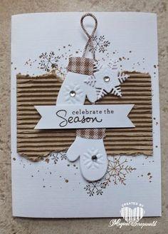 LOVE the corrugated cardboard! Magical Scrapworld: celebrate the season (12/3/2014)