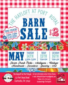 The Hayloft at Port Royal Spring 2015 Barn Sale - Clarksville, TN - May 2015 Antique Market, Vintage Market, Asian House, Port Royal, Modern Asian, Postcard Design, Handmade Furniture, Marketing, Clarksville Tn