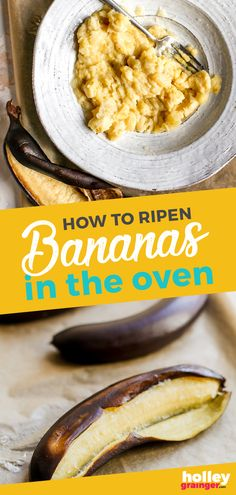 Go From Green Bananas to Ripe Bananas in 30 Minutes! Ripen bananas in the oven in just 25 minutes so you no longer have to wait to make your favorite banana bread recipe. This express ripening tip guarantees perfectly ripe bananas in no time! Vegan Recipes Beginner, Easy Healthy Recipes, Low Carb Recipes, Cheap Recipes, Spicy Recipes, Sweet Recipes, Yummy Recipes, Vegan Meal Prep, Vegetarian Recipes Dinner