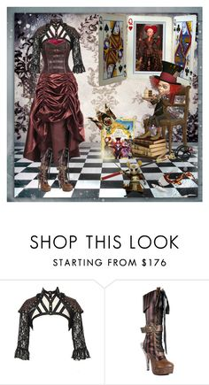 """OFF WITH THEIR HEADS!!!"" by scarletj17 ❤ liked on Polyvore featuring contestentry and DisneyAlice"