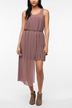 ac34169b5001e Sparkle   Fade Pleated Chiffon Step Hem Dress - Urban Outfitters Sparkle  And Fade