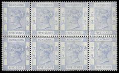 Hong Kong, 1882, Queen Victoria, 5¢ blue