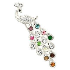 Multicolor Rhinestone And Crystal Peacock Charm Brooch Pin. Multicolor Rhinestone And Crystal Peacock Charm Brooch Pin on Tradesy Weddings (formerly Recycled Bride), the world's largest wedding marketplace. Price $46.75...Could You Get it For Less? Click Now to Find Out!