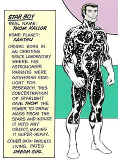 Star Boy of the Legion of Super-Heroes. Art by Dave Cockrum.