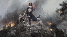 Liliana, Defiant Necromancer art by Karla Ortiz