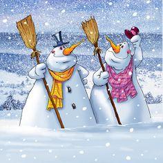 Snowman fun.