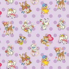 Quilt Gate - Dear Little World - Bambino Dots in Lavender