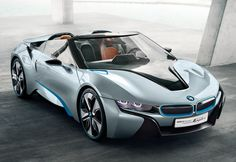 BMW i8 Spyder - electric supercar that includes the etron and E-Cell attached to either a gas or diesel engine.  Expected in 2013 as a lightweight and aerodynamic phenomenon