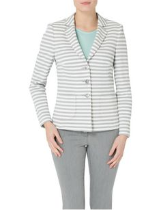 Grey Off White Stripped Jacket