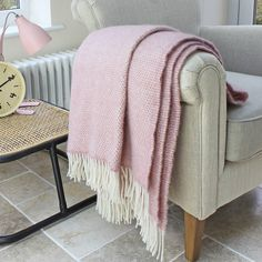 Are you interested in our pink wool throw? With our wool throw check design you need look no further. Light Pink Bedding, Dusty Pink Bedroom, Gold Desk Chair, Pink Throws, Pink Blanket, Wool Blanket, Sofa Throw, Throw Blankets, Soft Colors