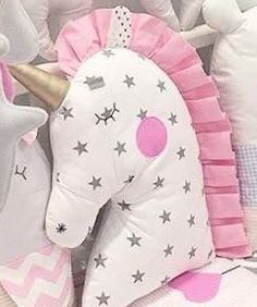 New Sewing Pillows Star 48 Ideas - Kids Pillows - Ideas of Kids Pillows Sewing Toys, Baby Sewing, Sewing Crafts, Sewing Projects, Cute Pillows, Baby Pillows, Kids Pillows, Unicorn Pillow, Unicorn Cushion
