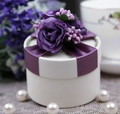box happy on sale at reasonable prices, buy Purple Floral Wedding Candy Box/Beautiful Wedding Favors Holder from mobile site on Aliexpress Now! Wedding Favors And Gifts, Purple Wedding Favors, Wedding Candy Boxes, Candy Party Favors, Candy Gifts, Floral Wedding, Candy Flowers, Creative Gift Wrapping, Wrapping Ideas