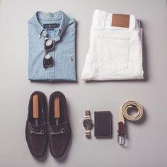 Tuesday denim on denim / #photooftheday #vsco #vscocam #ootd #wiwt #mensfashion #menswear #mensstyle #summerstyle #summerfashion #ralphlauren #rl #fivefourclub #gucci #tudor #tudorblackbay #rayban #outfitgrid #flatlay
