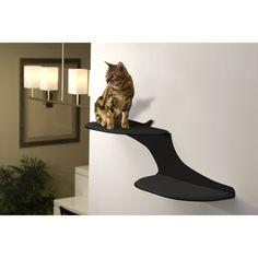 Refined Feline Cat Clouds Cat Shelf - Black - CLOUD-BK-L