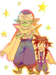 Gohan and Mr. Piccolo. <3 #DBZ I think I need a board just for DBZ.