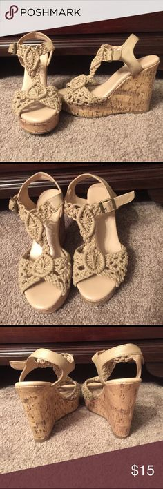 Crochet Wedge Sandals Crochet wedge sandals Shoes Wedges