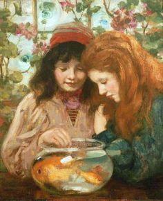 MacGeorge, William Stewart (b,1861)- Goldfish Bowl -2a