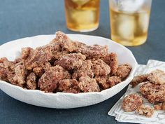 Jerry's Sugared Pecans : Upgrade your snack game by tossing nuts in a mixture of cinnamon and sugar to guarantee that craveable sweet-salty crunch. Trisha combines the cinnamon and sugar with egg whites to help the mixture adhere to the pecans.