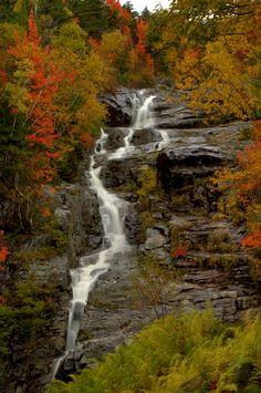 Falling Water With Stagelights by Jeff Fladen, via 500px; Crawford Notch, White Mountains, New Hampshire