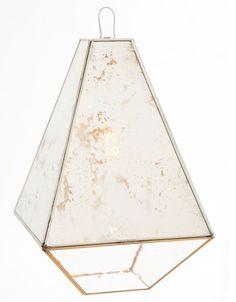 Lampara en encañuelado, espejo antiguo y vidrio de burbuja. LUMIKA DESIGN