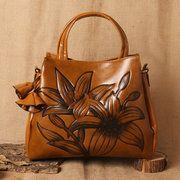 Hot-sale designer Women Hitcolor Retro Oil Leather Tote Bag Crossbody Bag Online - NewChic Mobile